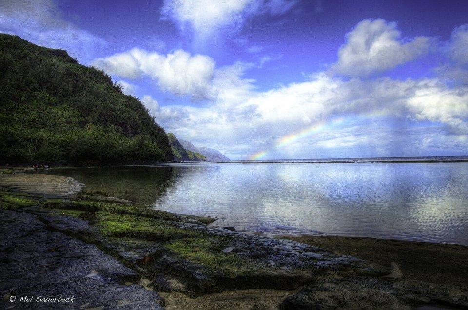 Ke'e Beach, Kauai, Hawai, Rainbow