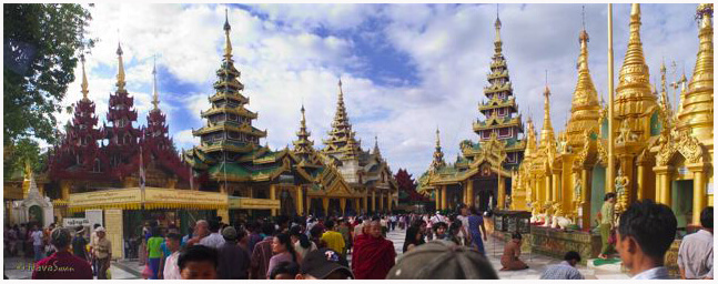 Shwedagon Temple Area