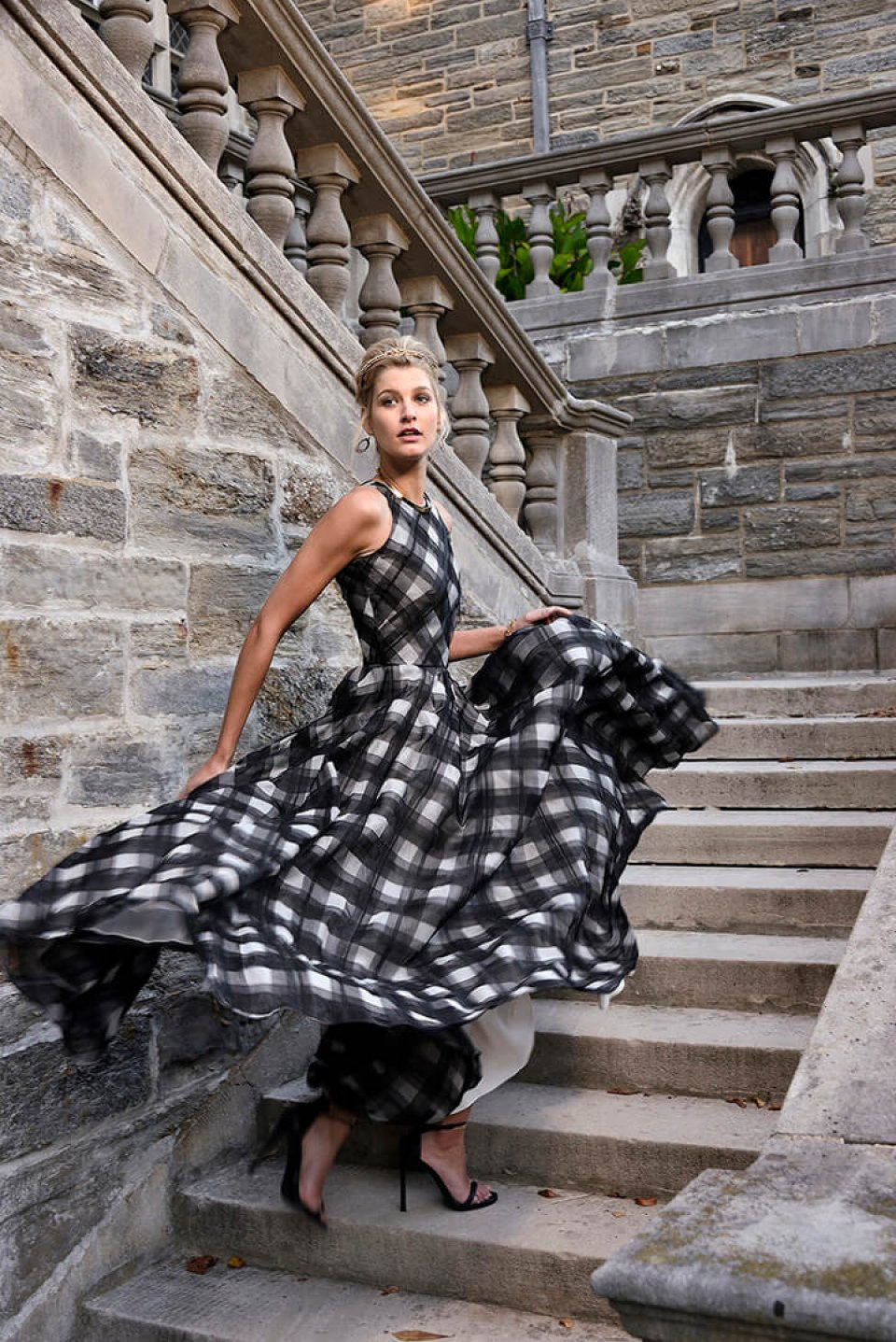 Fashion editorial stairway
