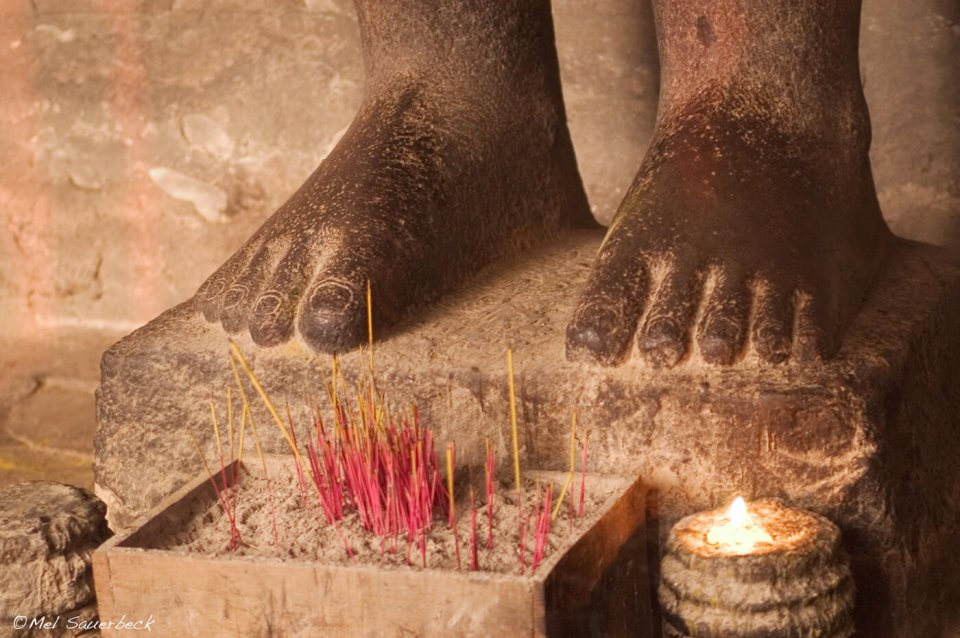 Buddha feet, Angkor Wat, Cambodia