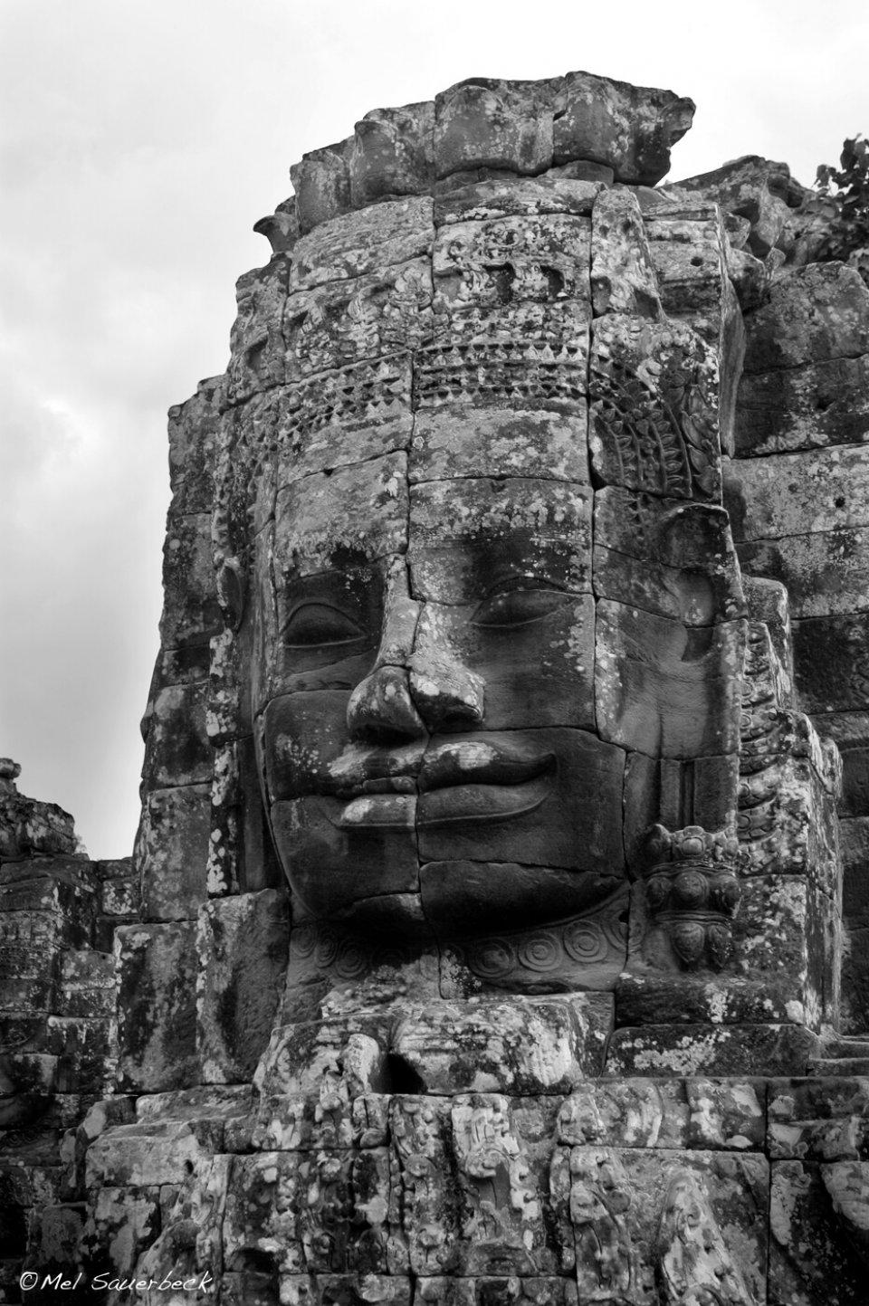 Ancient four-faced temple, Angkor Wat, Cambodia