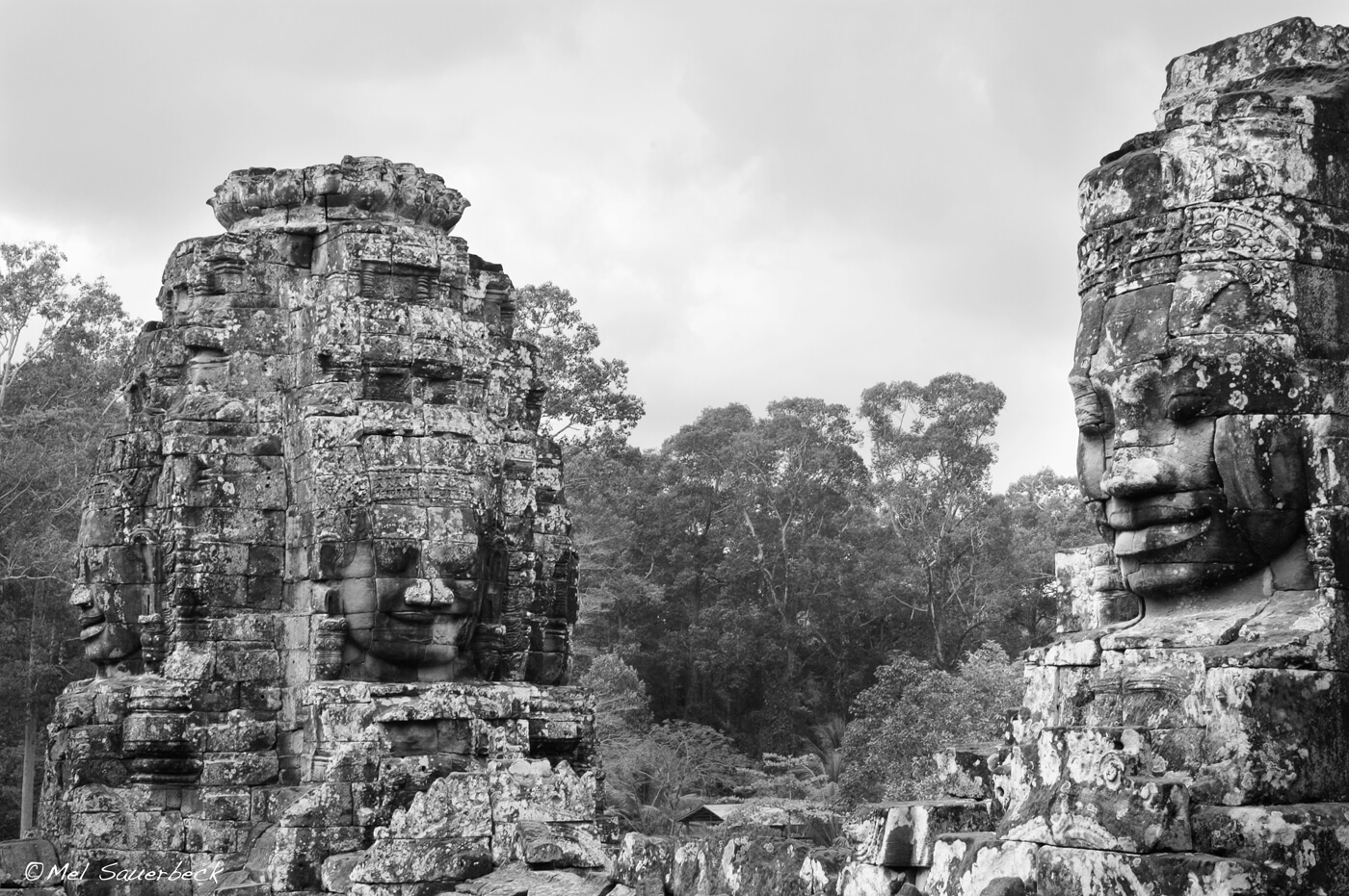 Four faced statues, Angor Wat, Cambodia