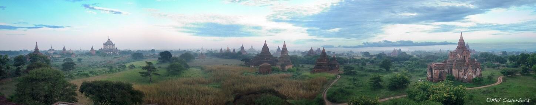 Bagan temple Panorama, Myanmar, Burma