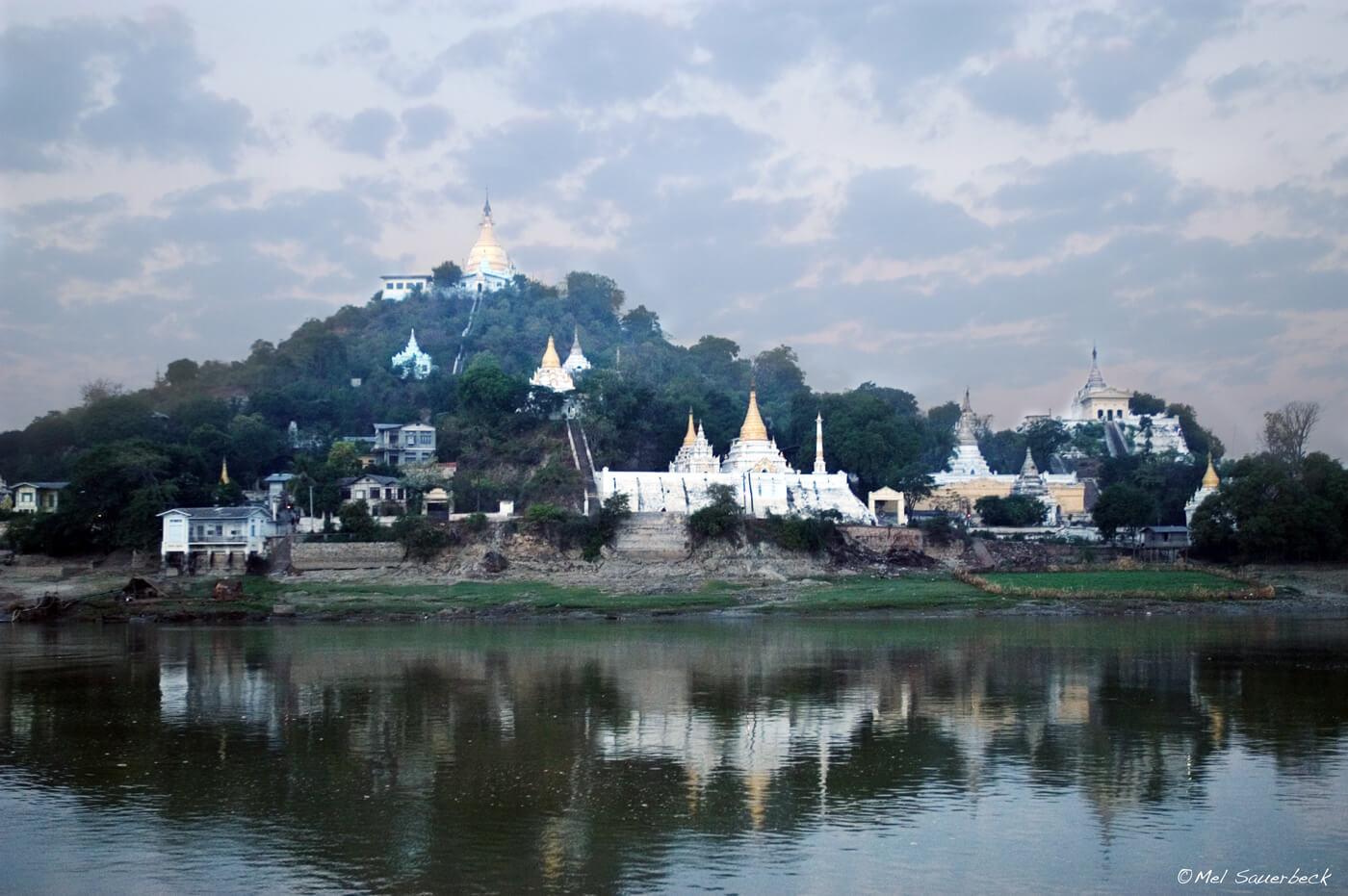 Temples on mountain, Began, Myanmar, Burma
