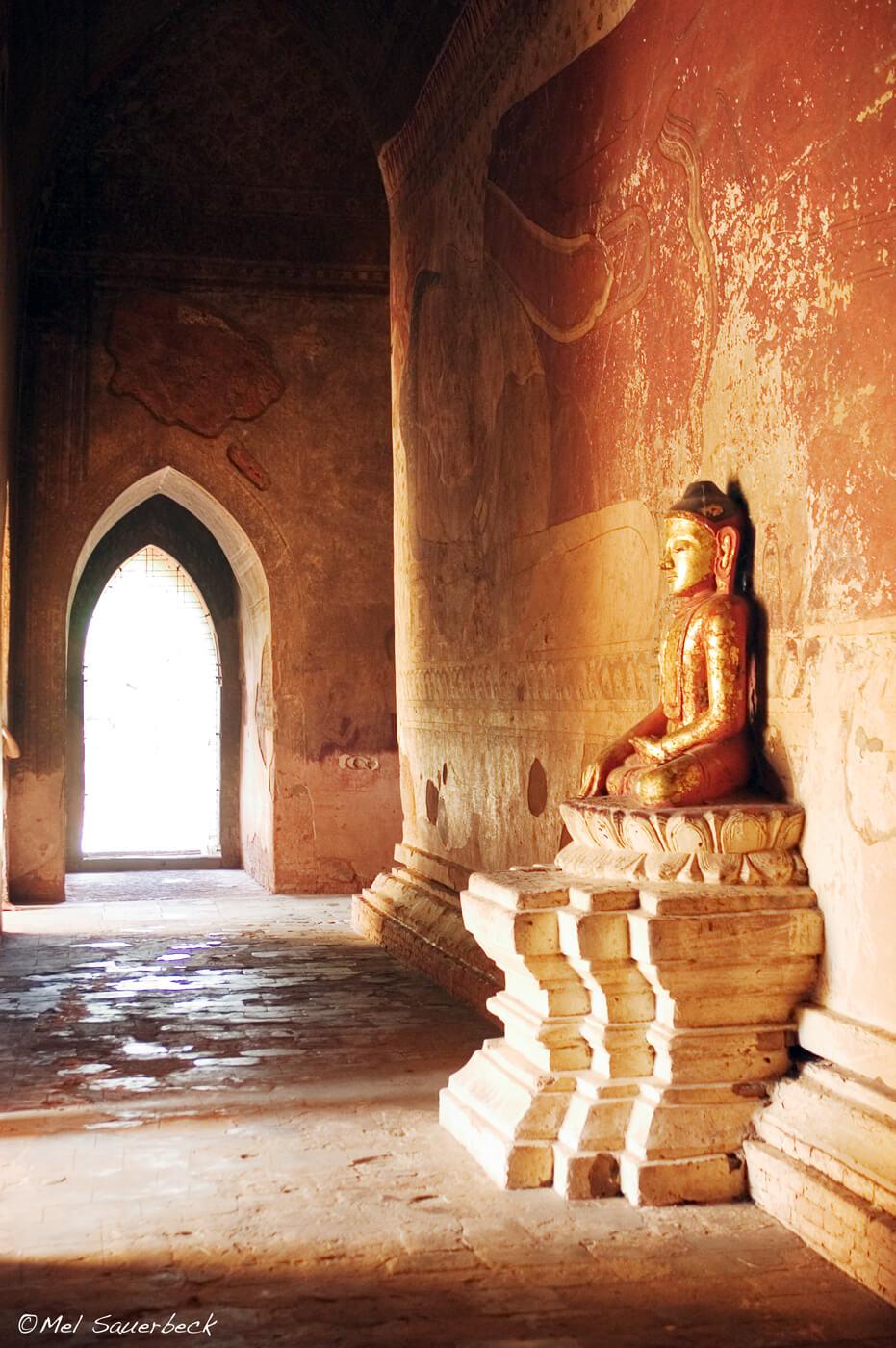 Buddha statue in temple, Myanmar, Burma