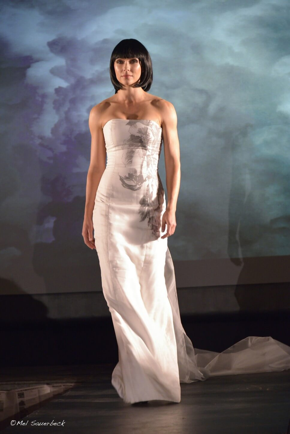 Young woman, Fashion show runway
