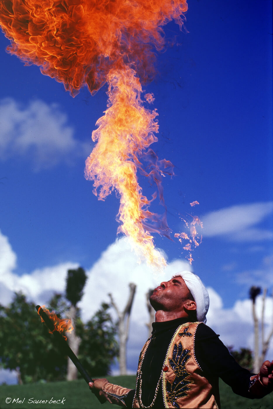 Fire breather, Morocco