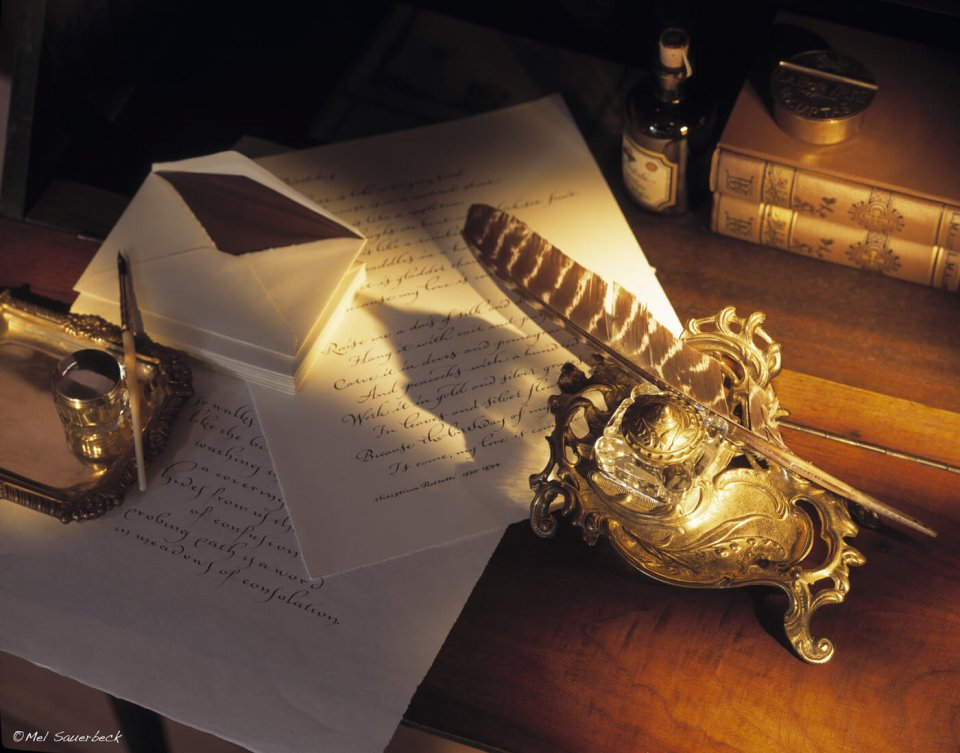 Letter Writing with quill
