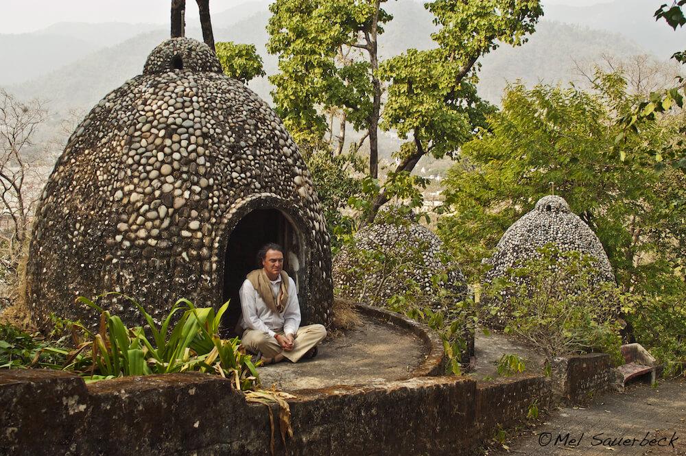 Meditating, Rishikesh, India