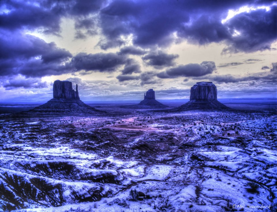 Monument Valley in snow