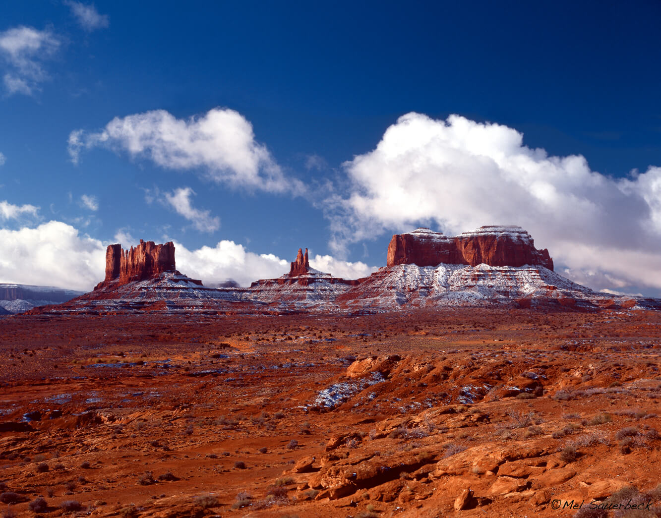 Monument Valley with snow