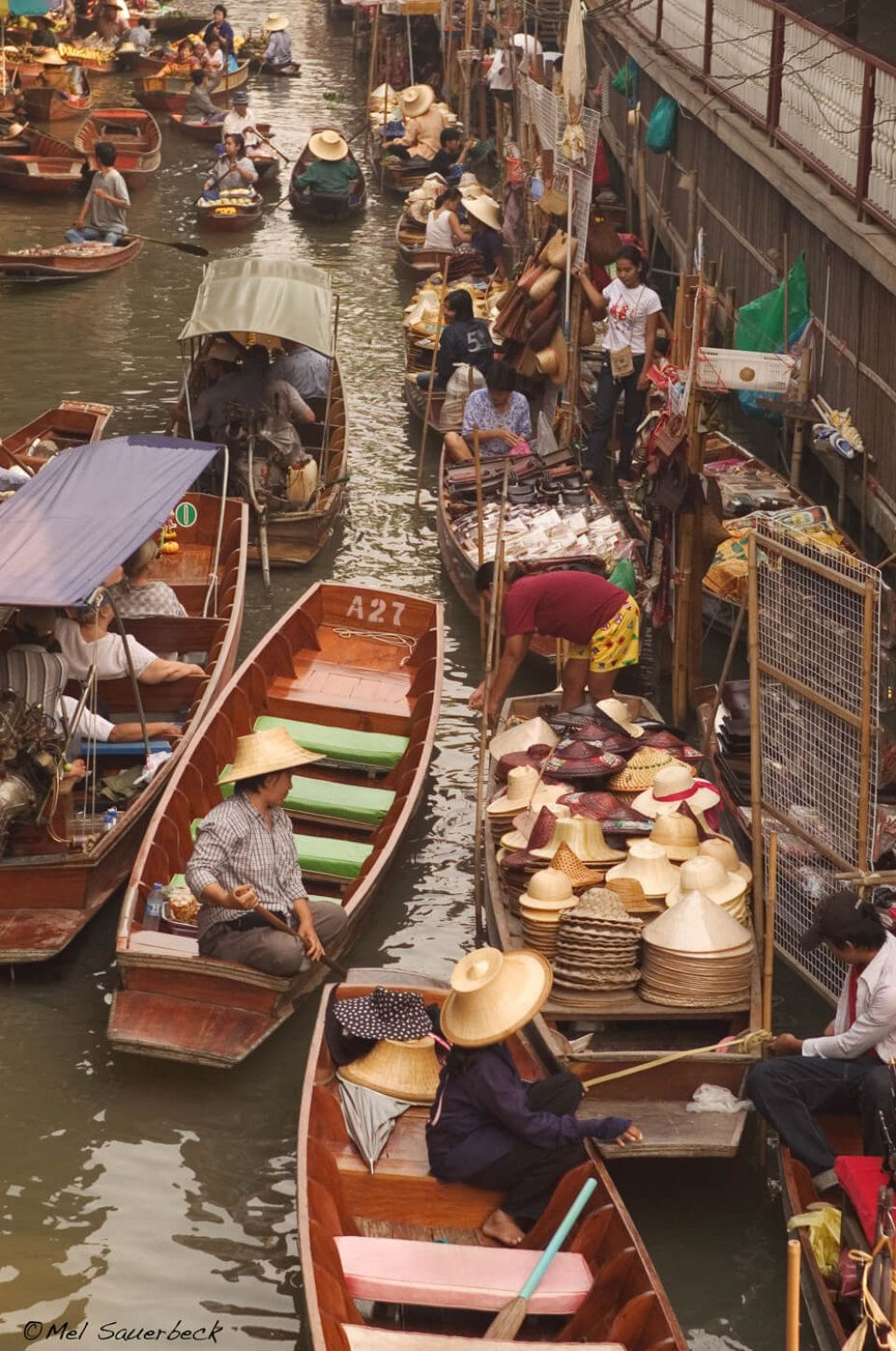 Merchants in boats, Thailand