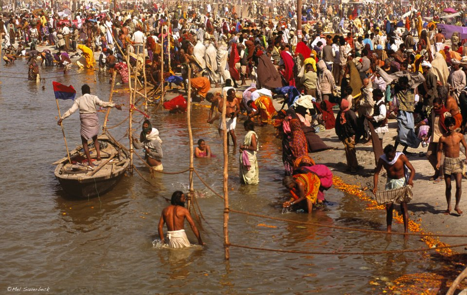 Sacred bathing at Maha Kumbh Mela