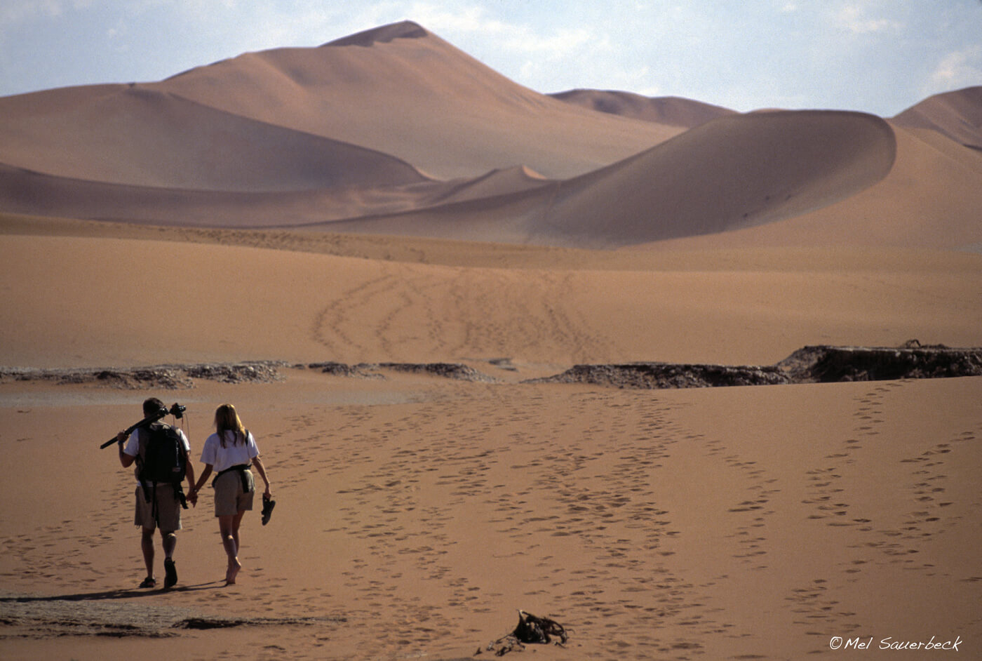 Namib desert couple