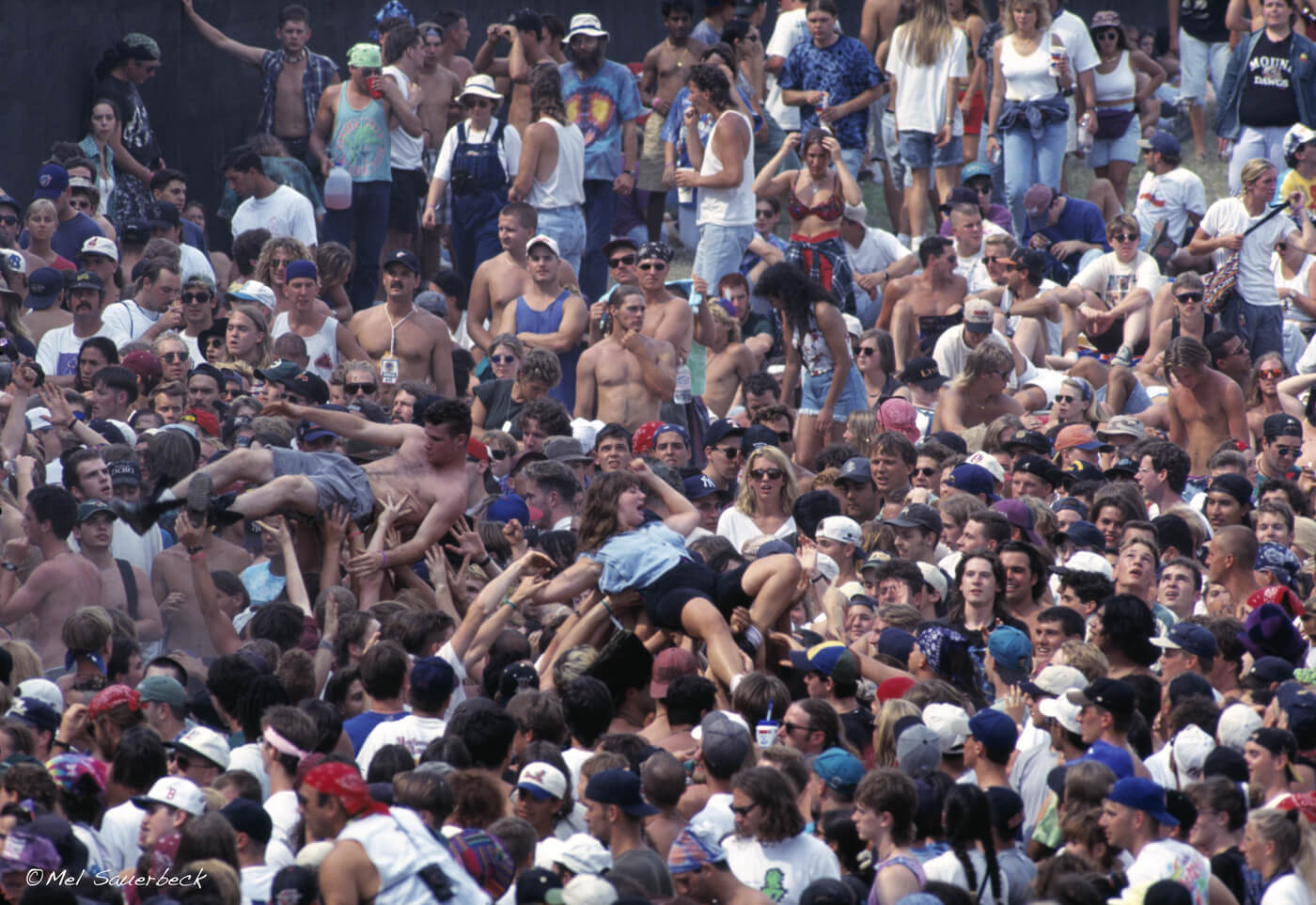 Woodstock crowd surfing